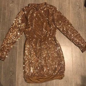 Gold sequence dress